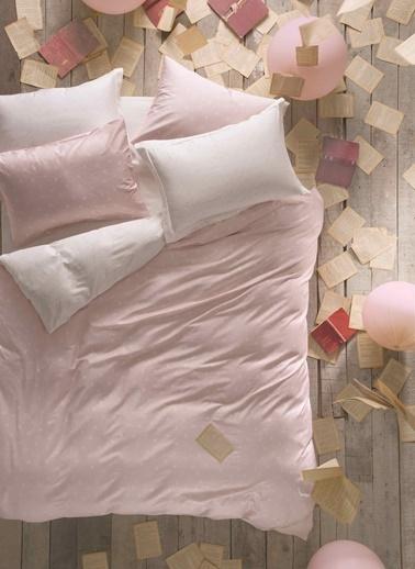Hibboux 200X220 Dotted Pamuk Saten Nevresim + Yastık Kılıfı - Lotus Renkli